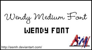 Wendy Fonts by ASMH