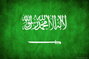Saudi Arabia Grungy Flag by think0