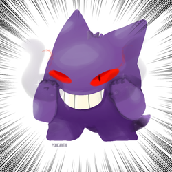 Gengar by Pixiearth