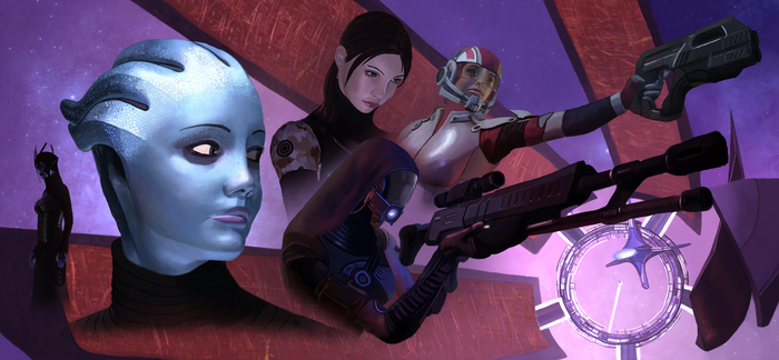 The women of Mass Effect by coloneljinx