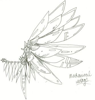 mechanical wings by KaraNari
