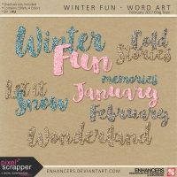 PSFeb2017 Winter Fun - Word Art by enhancers