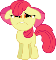 Sad Faced Apple Bloom by Creshosk