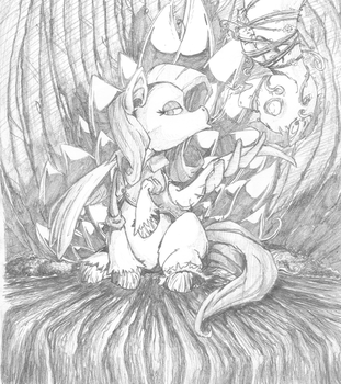 Day 34 : Poison Fluttershy by Al-Kpon