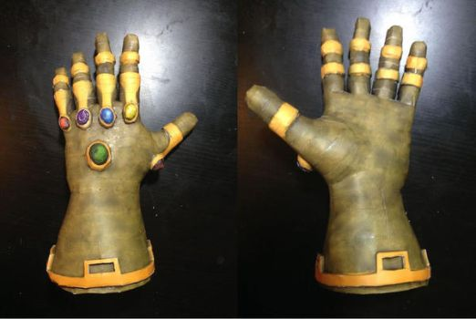 infinity gauntlet papercraft by enigmael