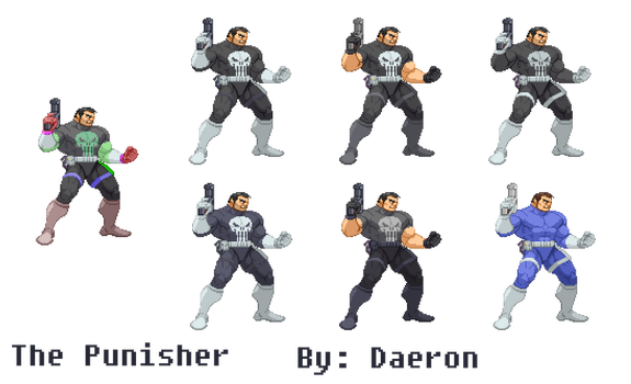 The punisher Mvc by Daeron-Red-Fire