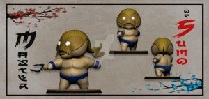 master of sumo fishman by BrainBlueArts