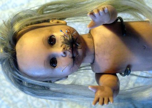 Creepy Doll Jenny Black by MetallicVisions