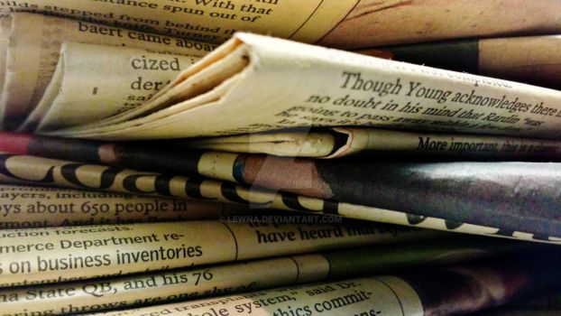 Stack of Old Newspapers 4 by Lewna