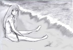 Nami on the Beach by Checker-Bee