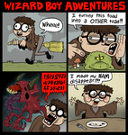 Wizard Boy Adventures by scythemantis