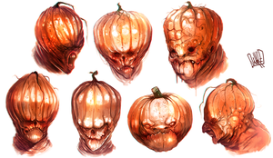 Pumpkinhead sketches by JakkeV