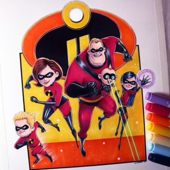 Incredibles 2 Drawing by LethalChris