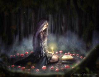 The witch circle by Amedeya