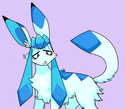 Shiny Glaceon by junopurr