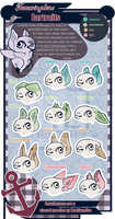 Fawxington Traitsheet: Ears by Thalliumfire