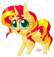 Chibi Sunset Shimmer by UniSoLeiL