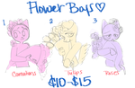 YCH Commissions-Flower Boys [Furry Ver.] by crazyazzy180