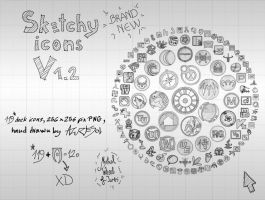 Sketchy Icons v 1.2 by AzureSol