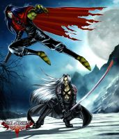 Vincent y Sephiroth sin acabar by Seonel
