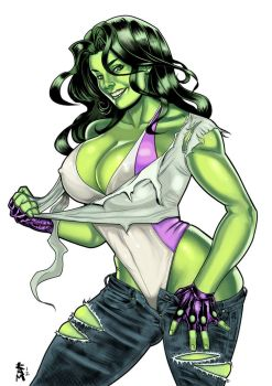 She-Hulk color by RamArtwork