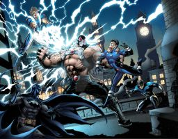 Bane vs. Batman and Legion of Super Heroes by JasonMetcalf