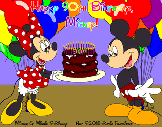 Mickey Mouse's 90th Birthday by tpirman1982