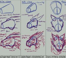 Drawing Dragon Heads ver 1.0 by eXdrachen
