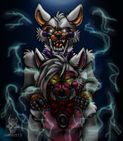 .:Revenge:. Funtime Foxy and Lolbit by JuliArt15