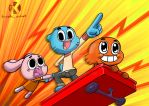 Gumball and Friends: UP UP AND AWAY by kaseddy