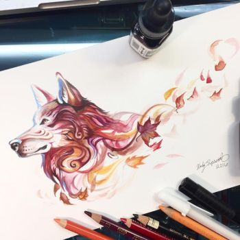 Autumn Wolf by Lucky978