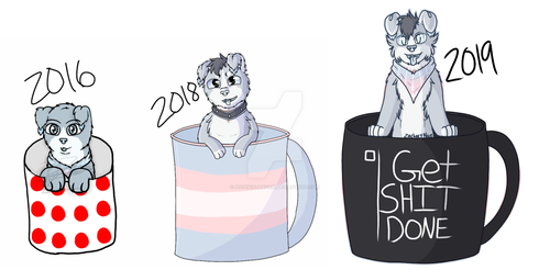 Pup In A Cup Redraw by phoenixthefox1
