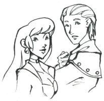 Alexander and Rosella by zombiesoup