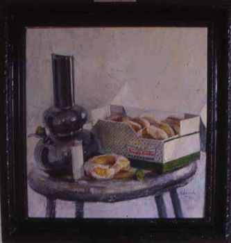 Still life with bong and donut by jesseedwardsdotnet