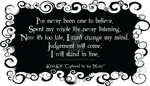 KriticKill - Captured By the Water quote by WendiJo129