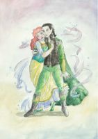Loki and Sigyn by Mauvemuse