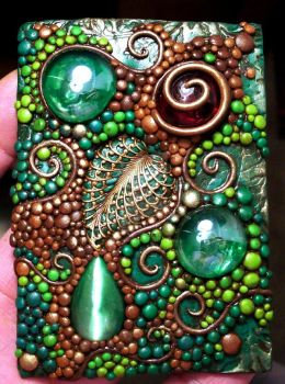 ACEO Deep Forest polymer clay by MandarinMoon
