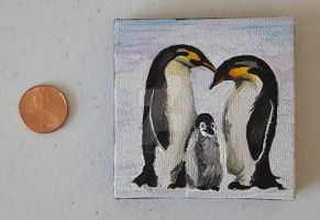 Tiny Penguin Family ..view 3 by DorysStories