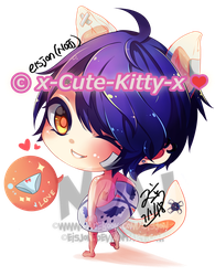 Commission :x-Cute-Kitty-x (Blue) by eisjon