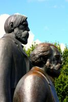 Marx and Engels monument by Taktloss