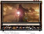 Steampunk VLC Skin Mock Up by yereverluvinuncleber