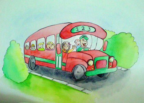 bus of happyness by louisemc