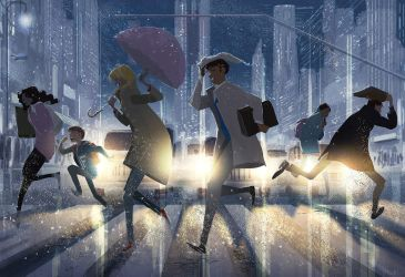 Street Crossing. by PascalCampion