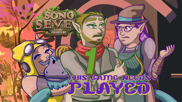 Song of Seven Title Card Art by SonicSpirit128