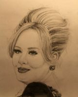 Adele - Pencil Portrait Drawing by LucaHennig