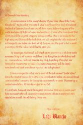 Lady Blanche's Letters #1 by SimplyDefault