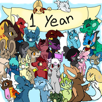 1 full year! by Dragon-Burn