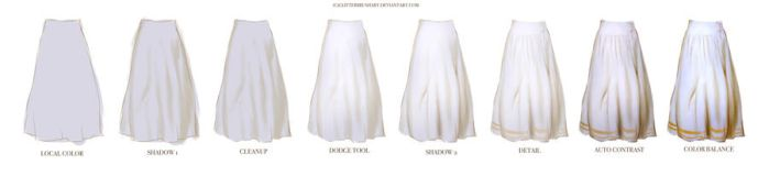 Skirt tutorial (free download) by M00NBRUSH