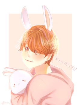 Kookie and Molang by MimicuTheCat