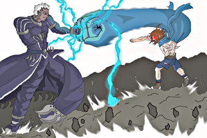 Duel entre Zay et Natsume by Goukimaster84